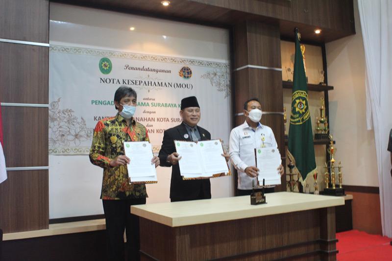 Penandatanganan Nota Kesepahaman PA Surabaya dan BPN  Surabaya